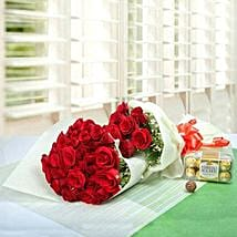 Elegant Gift For The Occasion: Mother's Day Flower N Chocolates UAE