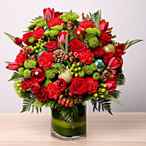 Exotic Flower Vase Arrangement: Christmas Gift Delivery in UAE