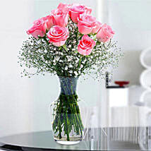 Glorious 12 Pink Roses: Mothers Day Flowers to UAE