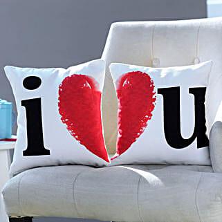 I Love You Printed Cushion Set: Personalized Gifts Dubai UAE