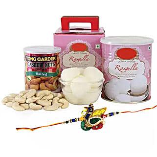 Rakhi Spongy Sweet: Send Rakhi With Sweets to UAE