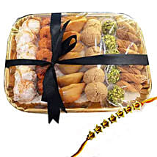 Rakhi with Sweet Platter: Rakhi Delivery in Dubai