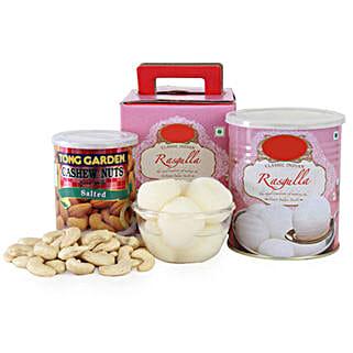 Rasgulla With Cashews UAE: Eid Gift Baskets to UAE
