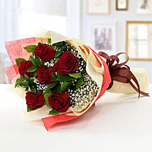 Romantic Red Roses Bouquet: Send Flowers to Sharjah