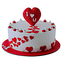 Valentine Round Cake: Valentine's Day Gifts to UAE