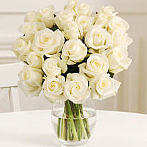 24 Fairtrade White Roses: Mother's Day Bouquets to UK