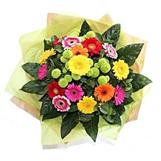 Bright Gerbera Delight: Get Well Soon Flowers to UK