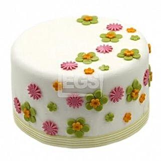 Flower Duet Cake: Send gift to London
