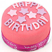 Happy Birthday Pink Cake Egg Free: Cakes to Edinburgh