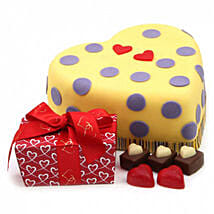Hearts And Dots Cake Gift: Cakes to Edinburgh