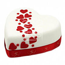 Hearts And Stars Cake: Send Cakes to Nottingham