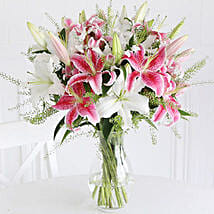 Mixed Lilies: Mother's Day Bouquets to UK