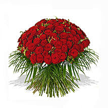 One Hundred Red Roses Bouquet: Gifts for Anniversary in UK