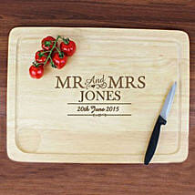 Personalized Mr And Mrs Meat Carving Board: Personalised Anniversary Gifts