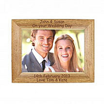 Personalized Walnut Wood Photo Frame: