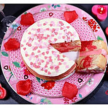 Valentines Strawberry Swirl Cake: Send Cakes to Leicester