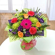 Vibrant Hand tied Bouquet: