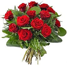 12 Red Roses: Send Roses to USA