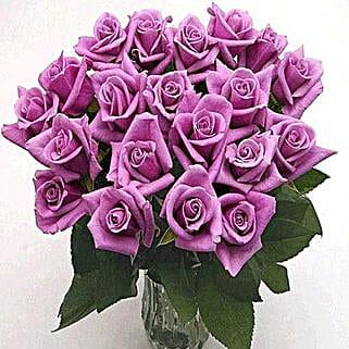 25 Long Stem Lavender Roses: Same Day Anniversary Flowers for USA