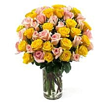 50 Long Stem Assorted Roses: Send Flowers to Ontario