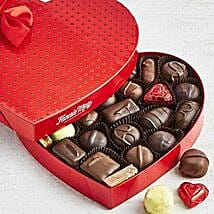 Assorted Chocolate Heart Box: Valentine's Day Gifts to USA