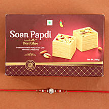 Beads Rakhi And Soan Papdi Combo: Rakhi Delivery in USA