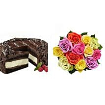 Chocolate Cheesecake and Colorful Roses: Send Cakes to Sunnyvale