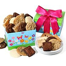 Cookie And Brownie Gift Box: Birthday Gifts to USA
