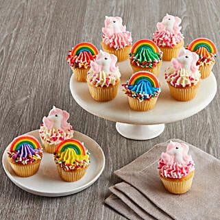 CRUMBS Mini Rainbows and Unicorns Cupcakes: New Year Cakes to USA