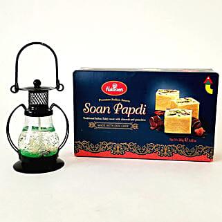 Designer Lantern & Soan Papdi Combo: Diwali Gifts to San Jose