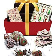 Fancy Chocolate Covered Gifts Basket: Send Christmas Gifts to USA