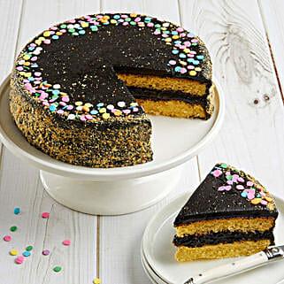 Golden Fudge Celebration Cake: Send Mother's Day Cakes to USA