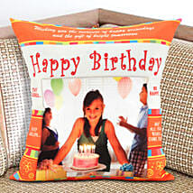 Happy Bday Personalized Cushion: Send Personalised Gifts to USA