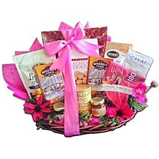 Pink Parade gift basket: Valentine's Day Chocolates to USA