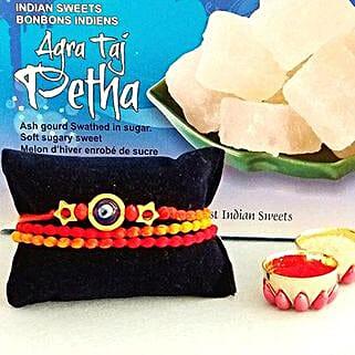 Rakhi Petha Combo: Send Rakhi to USA