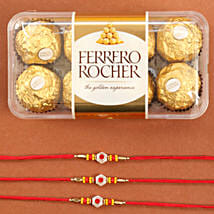 Set Of Traditional Rakhis With Rocher: Send Rakhi to Houston