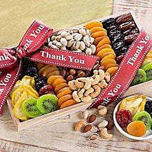 Thank You - Dried Fruit and Nut Collection: Valentines Day Gift Baskets in USA