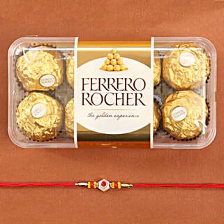 Traditional Rakhi With Ferrero Rocher: Kids Rakhi to USA