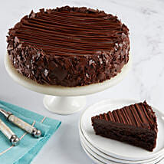 Triple Chocolate Enrobed Brownie Cake: Birthday Gifts Columbus