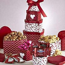 Valentine Sweets Tower: Send Valentine Gifts to Minneapolis